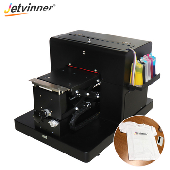 Jetvinner A4 size flatbed printer professional colthing print machine for EPSON L800 printers for white and dark color T-shirt