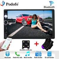 Podofo 2 Din Car Radio MP5 Player Bluetooth Auto Stereo Autoradio 7 HD Touch Audio Multimedia