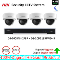Original Hik 8MP Security System NVR KIT DS 7608NI I2 8P 8MP IP Camera DS 2CD2185FWD