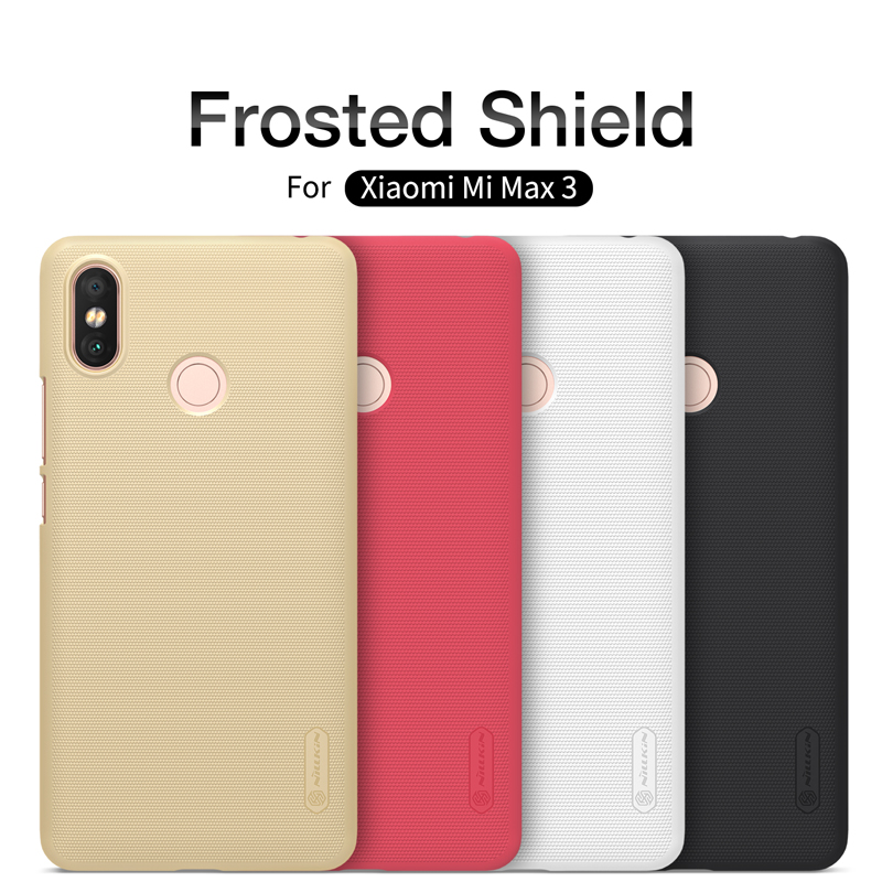 For xiaomi mi max 3 Phone Case Nillkin Super Frosted Shield PC Hard plastic Back cover Case For xiaomi mi max 3 phone bags