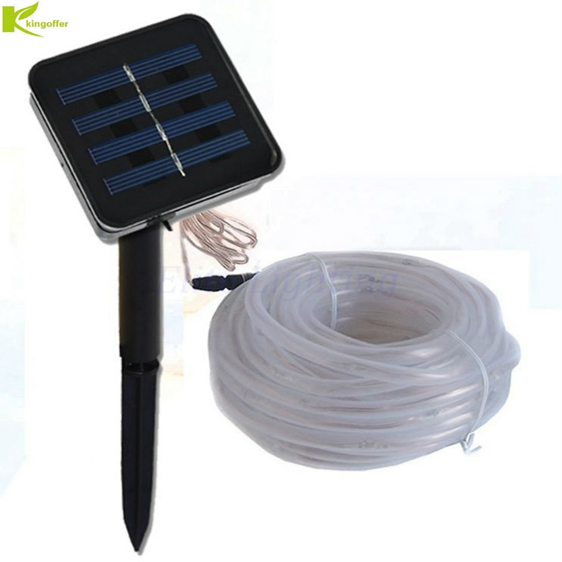 Kingoffer 7m 50 Led Solar Rope Tube Led String Strip Fairy Lights Outdoor Garden Christmas Xmas Party Decor Waterproof Lamp Cleaning The Oral Cavity.