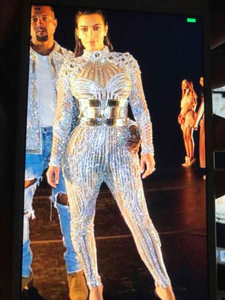 Модные яркие кристаллы комбинезон со стразами комбинезон для вечеринки костюм для певицы производительность Пром праздновать наряд боди