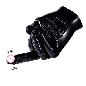 Image 2 - Electric Sex Finger Gloves Dildo Vibrators Masturbator for Women Vibrator Erotic Sex Toys For Adults G Spot Clitoris Stimulator
