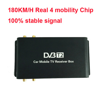 180km-200km/h DVB-T2 Car 180-200km/h Digital Car TV Tuner 4 Antenna 4 Mobility Chip DVB T2 Car TV Receiver BOX DVBT2 1