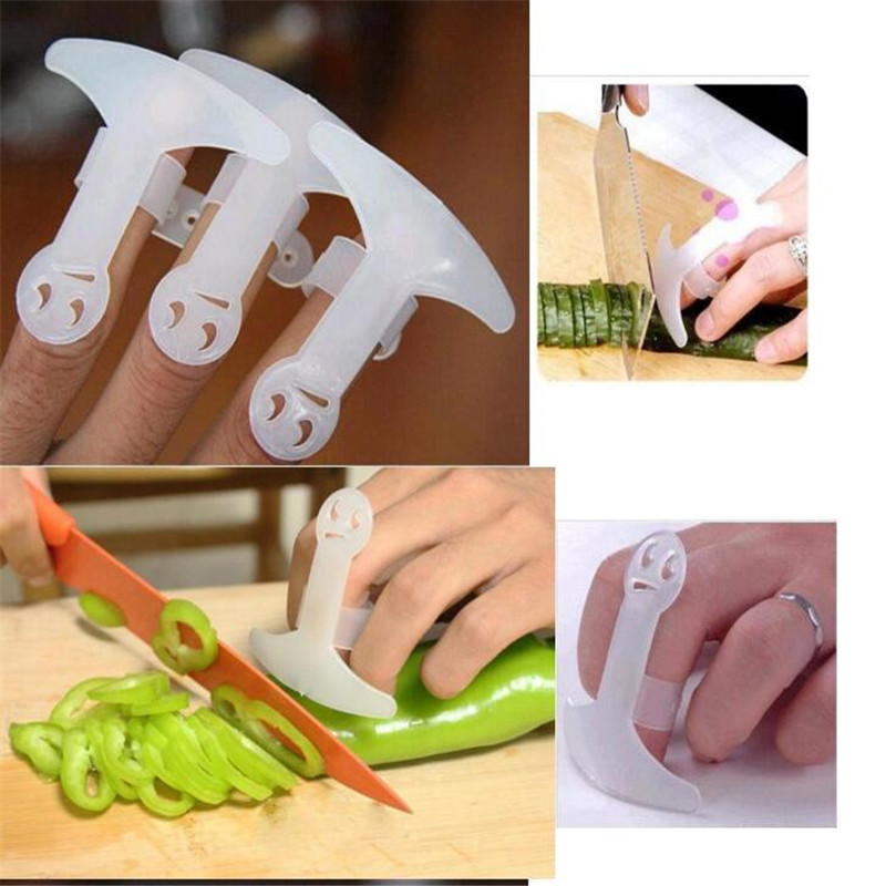 1pcs Finger Guard Plastic Protect Safety Finger Hand Protector Kitchen Cooking Tools