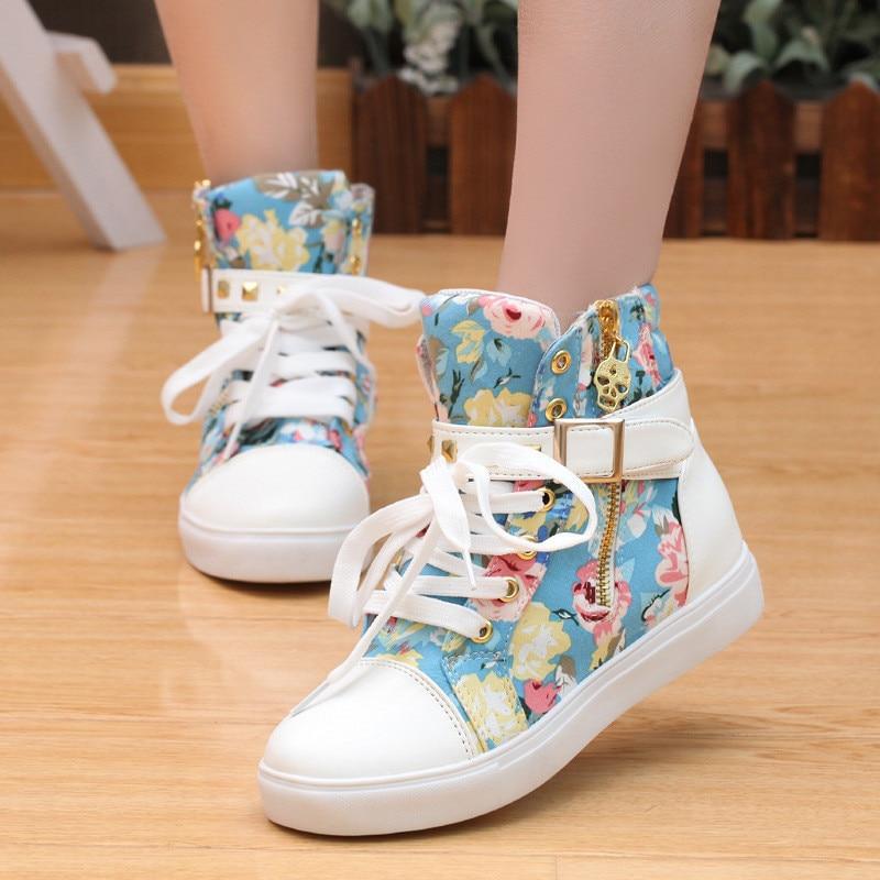 Zapatos de Lona de las mujeres  nueva moda Transpirable cozy mujeres Altos zapat