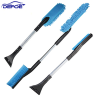 New Product Aluminum Multifunctional Brush Cleaned Snow Ice Car Wash Automobile Snow Shovel Three In One