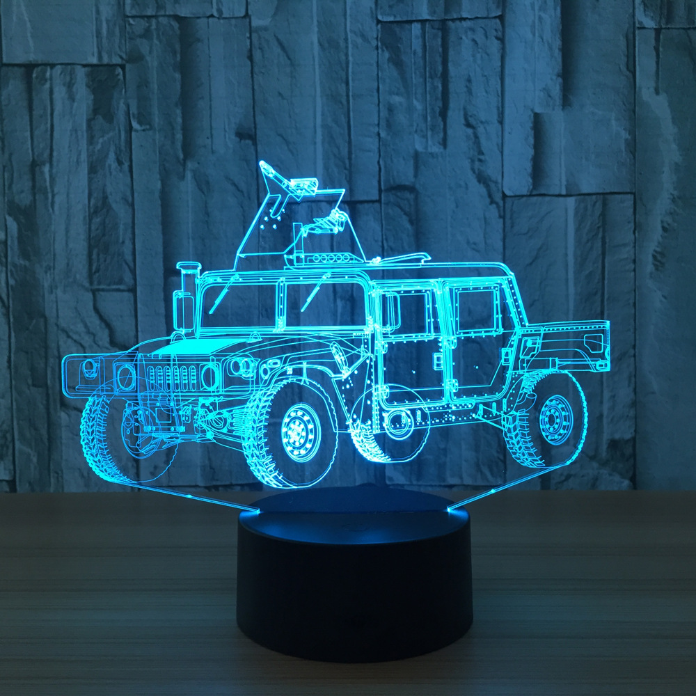 Car model 3D Lamp 7 Color Chang Small Night Light Baby Bluetooth Speakers lights LED USB Desk lamp For Kids Gift