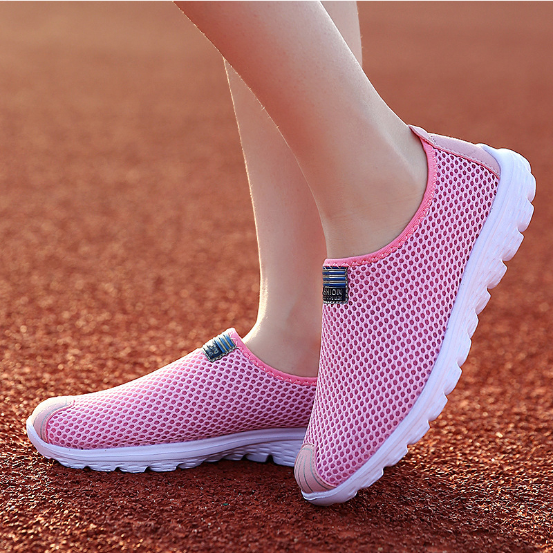 Women Shoes new Fashion Solid Breathable Lovers casual Shoes Loafers Summer Network Shoes Woman Flats Fashion Tenis Feminino 2017 brand new women casual shoes summer breathable walking shoes low net surface flats fashion loafers 4 colors bc 03