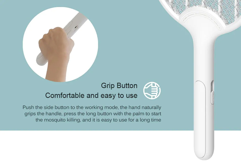 Xiaomi Mijia 3 Layers Mesh Electric Mosquito Swatter Electric Handheld Mosquito Killer Insect Fly Bug Mosquito Swatter Killer (8)