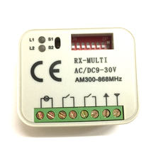 1pcs Multi frequency 300-868mhz Universal Wireless Remote Control Switch AC/DC 9-30V 2CH Relay Receiver Module(China)