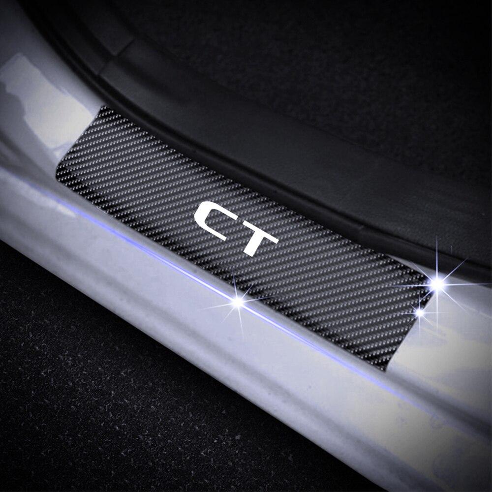 Para Lexus CT Serie Soleira Da Porta Placa Soleira Da Porta Do Carro Adesivo Decoração Placa do Scuff do Peitoril Da Porta De Fibra De Carbono Adesivo de Vinil estilo do carro