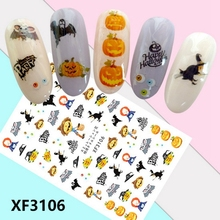 Mtssii Halloween Stickers for Nails Pumpkin Terrifying Stickers for Na