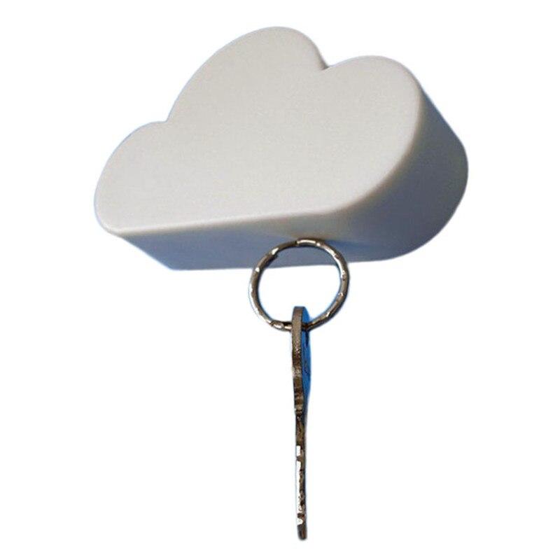 Hot Sale Creative Novelty Home Storage Holder White Cloud Shape Magnetic  Magnets Key Holder dropshipping wholesale
