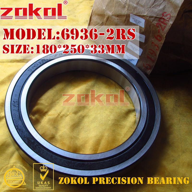 ZOKOL 6936RS bearing 6936 2RS 1000936 (61936) 6936-2RS Deep Groove ball bearing 180*250*33mm цена