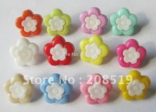 NB095 fashion plastic button mixed 400pcs 15mm colorful craft buttons flower shape combined