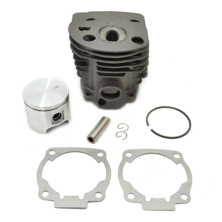Chainsaw Cylinder Rebuild Kit 46MM and Piston Assembly Gasket  fit Husqvarna 55 OEM  Parts 503609171 503162103 38mm engine housing cylinder piston crankcase kit fit husqvarna 137 142 chaisnaw