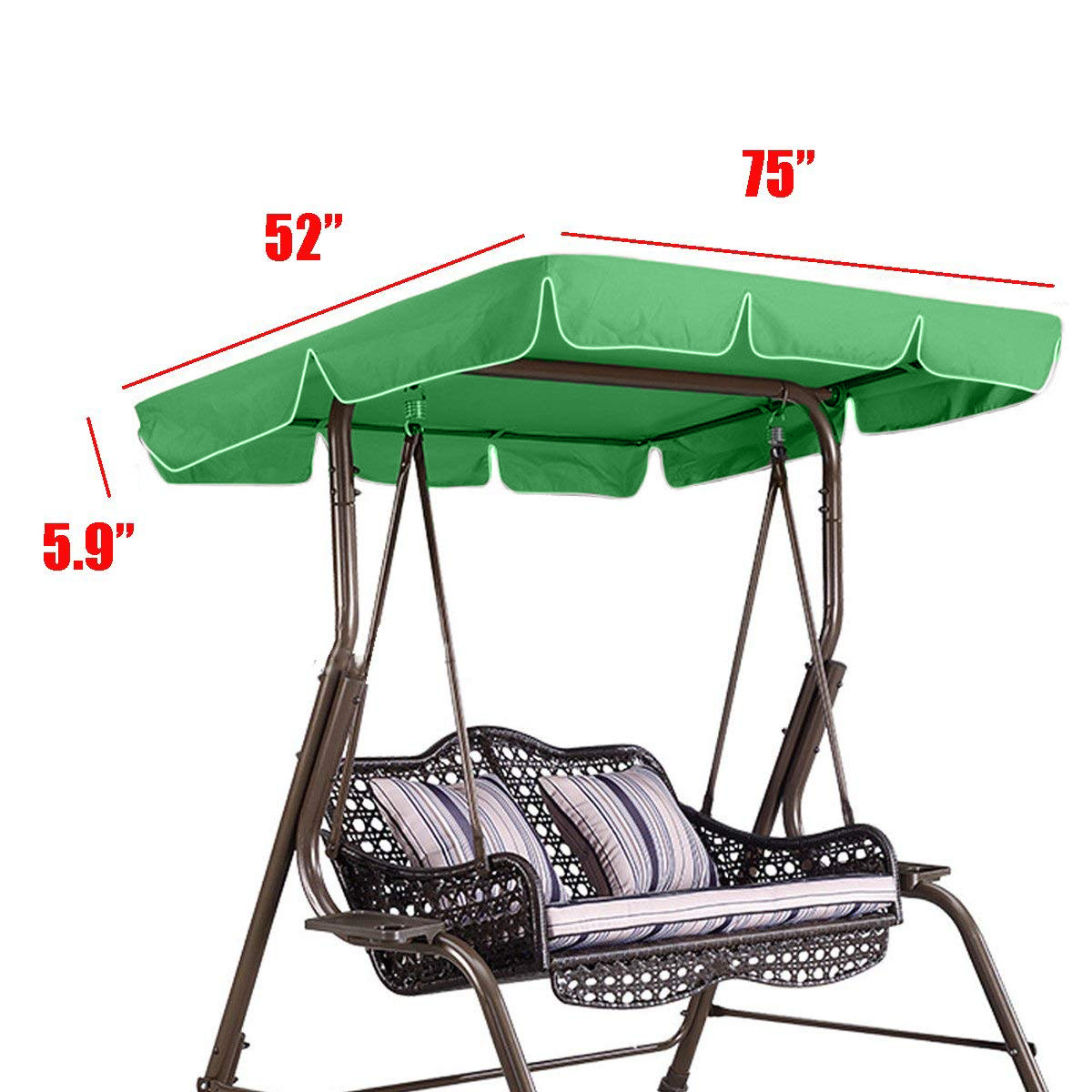 Outdoor Canopy Chair Rattan Wicker Chairs Universal Swing Top Cover Polyester Replacement Indoor For Patio Garden Awning Sun Shade Accessories In Sails Nets From