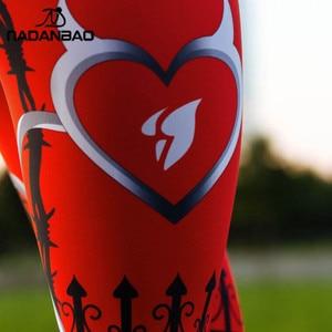 Image 4 - NADANBAO 2019 Women Leggigns Heart Shape Digital Print Patchwork Fitness Legging Push Up Workout Plus Size Leggins Pants