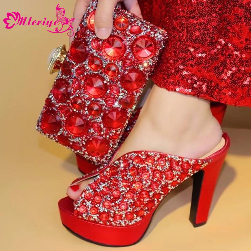 red Italian Shoes and Bags To Match Shoes with Bag Set Nigerian Shoes and Matching Bags African Wedding Shoes and Bag Sets 2017 italian shoes with matching bags to match wine color new african shoes and matching bag sets for party 1703v0322d30 10