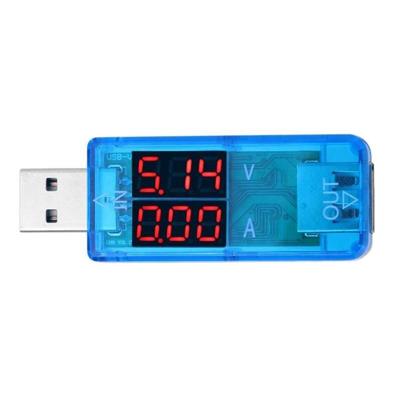 USB Зарядное устройство Напряжение метр <font><b>DC</b></font> 3.2-10 В 0-3A светодиодный Батарея ток Напряжение Вольтметр Амперметр цифровой dispay