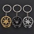 Fashion Metal Car Logo wheel rim model key ring keyring keychain key chain sleutelhanger llaveros chaveiro wheel hub portachiavi