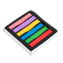 1 Set 6 Colors Chalk Worldwide Hair Dyeing Hair Color Chalk Crayon 6 Colors Hair Pins Personalized DIY Hair Beauty Style Tools(China)