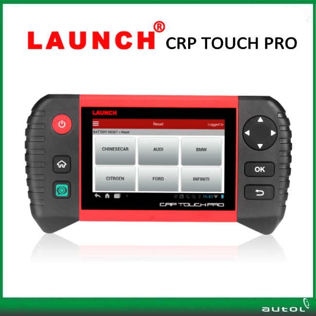 Newest Launch crp touch pro code scanner for electronic parking brake steering angle oil lights DPF