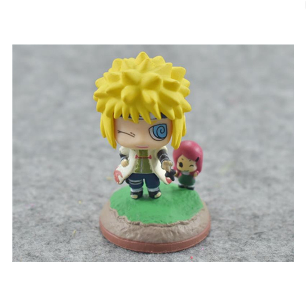 US $4 46 OFF 2 Pcs Lot Cartoon Naruto Action Figure Cute Kakashi Namikaze Minato Senju Hashirama Ninja PVC Model Anime Kid Toy Action & Toy