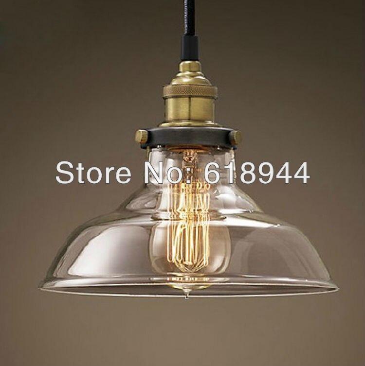 ФОТО Wholesale  restaurant dining room living room lamp glass vintage glass pendant lamp industrial pendant light 110-240v