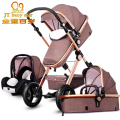 European Baby Stroller 3 in 1,Baby Pushchair 3 in 1,High Landscape Fold Strollers for Children Travel System,Prams for Newborns