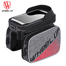 цена на WHEEL UP Top Tube MTB Cycling Riding Frame Front Head Bags Cell Phone bicycle bag 6.0 Inch Waterproof Touch Screen Bike Bag