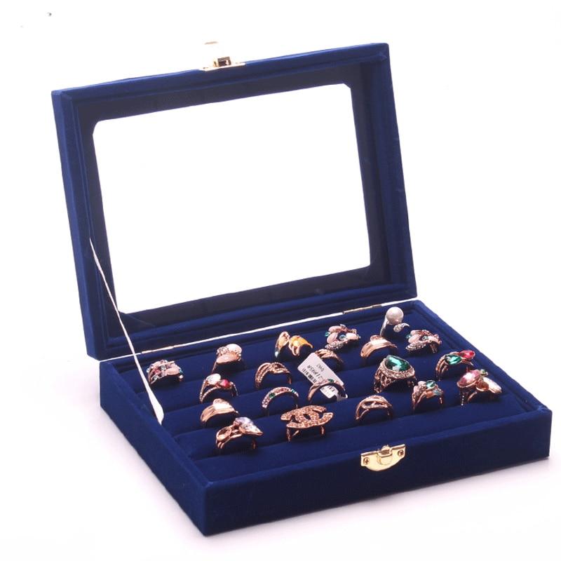 ᗕ2015 nueva moda azul accesorios de la joyería almacenamiento ...