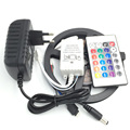 5M 3528 No Waterproof RGB LED Strip 300 leds LED HOLIDAY LIGHT +24keys controller+12v2a Power adapter US EU UK AU PLUG