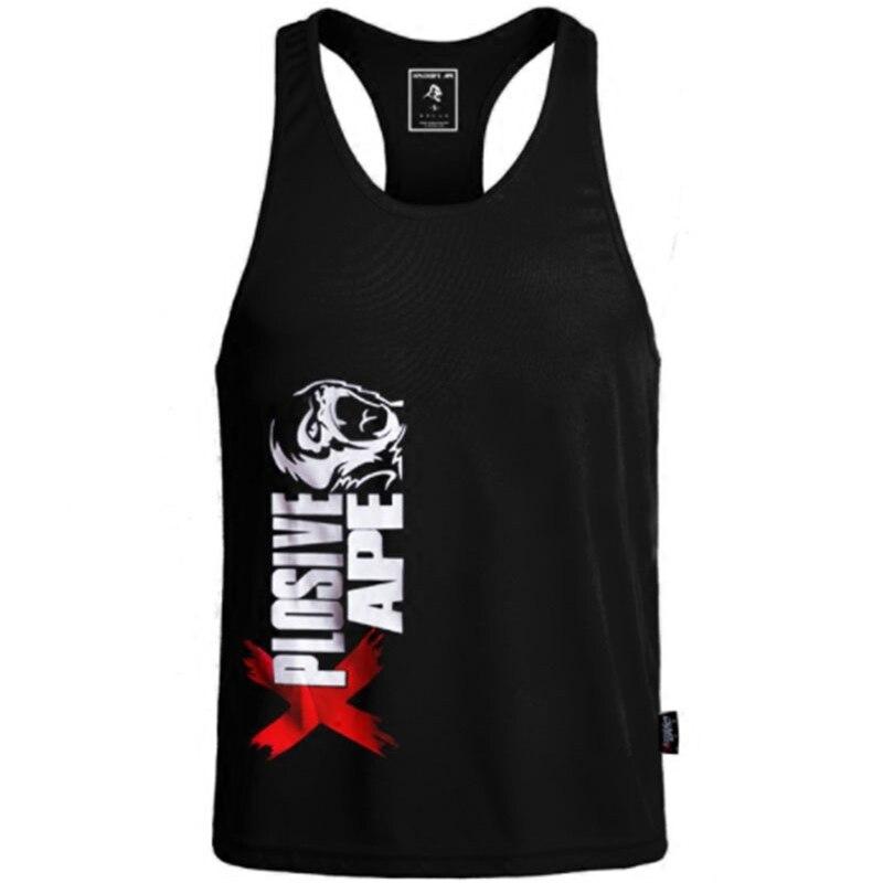 EntrüCkung 2018 Neue Männer Stringer Tank Top Keuchen Marke Mens Bodybuilding Fitness Männlichen Singuletts Kleidung Muscle Weste Sleeveless Tank