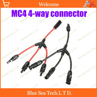 1 Pair IP67 PV 4 Way Connector MC4 X Cross Solar Connector Male Female Kits For