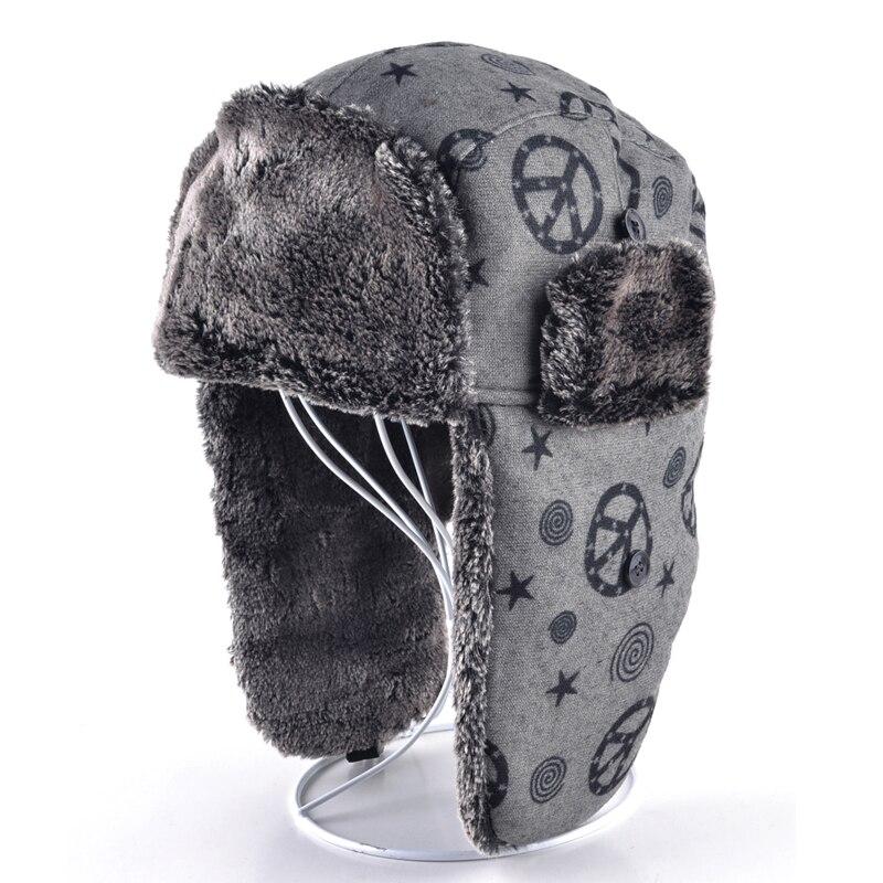 6b10748ed7151 Unisex sombreros de invierno para hombres sombrero de bombardero para  hombre orejeras mantener cálido bonnet sombrero de piel sintética Rusia  nieve caps ...