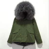 2015 New Style Women And Men Name Brand Top Quality Mr Furs Sale Gray Fur Collar