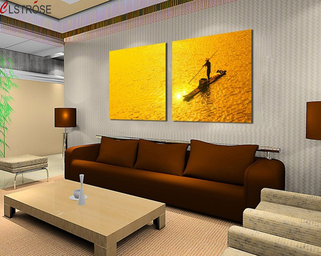 CLSTROSE Wall Pictures For Living Room 2 Pieces Canvas Wall Art ...
