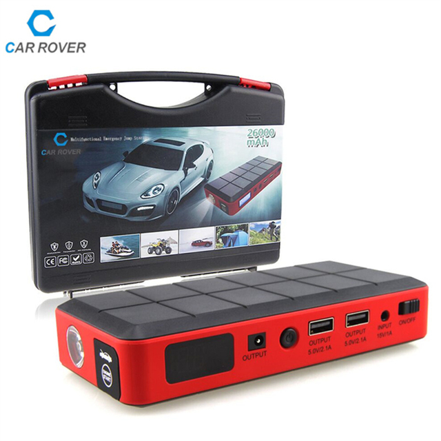 Car Rover Jump Starter 26000mAh Emergency Car Power Bank Car Jump Starter 12V Mini Portable Multifunctional for 3.0L Diesel