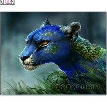 DIY 5D Diamond Painting Cross Peacock Leopard Embroidery Square Drill Mosaic Decoration Animals Rhinestones Gift