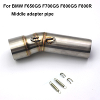 F650GS F700GS F800GS F800R Motorcycle Middle Exhaust Connect Pipe Mid Link Pipe Stainless Steel Tube for BMW F700GS F800GS ADV