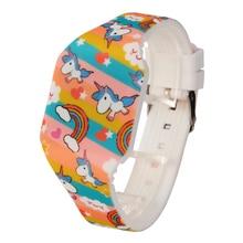Girls' Cartoon Unicorn Watch with Silicone Band