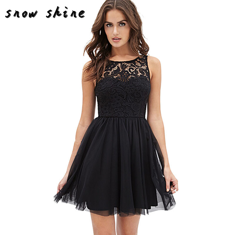 snowshine YLI 1PC OVERMALL Women Sleeveless Lace Backless Ball Gown Girl Summer Dress free shipping