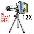 Teléfono móvil del teléfono Móvil 12x lentes de Zoom óptico Telescopio Lente telefoto teleobjetivo Para apple iphone 5 5s 6 6 s 7 más 6 más 6 splus 7 plus