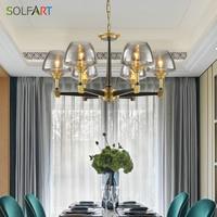 Lustre Modern Chandelier Lighting Fixtures Simple Style Pure Copper Lamp Chandelier Lighting Ceiling Lamps Chandeliers Vallkin