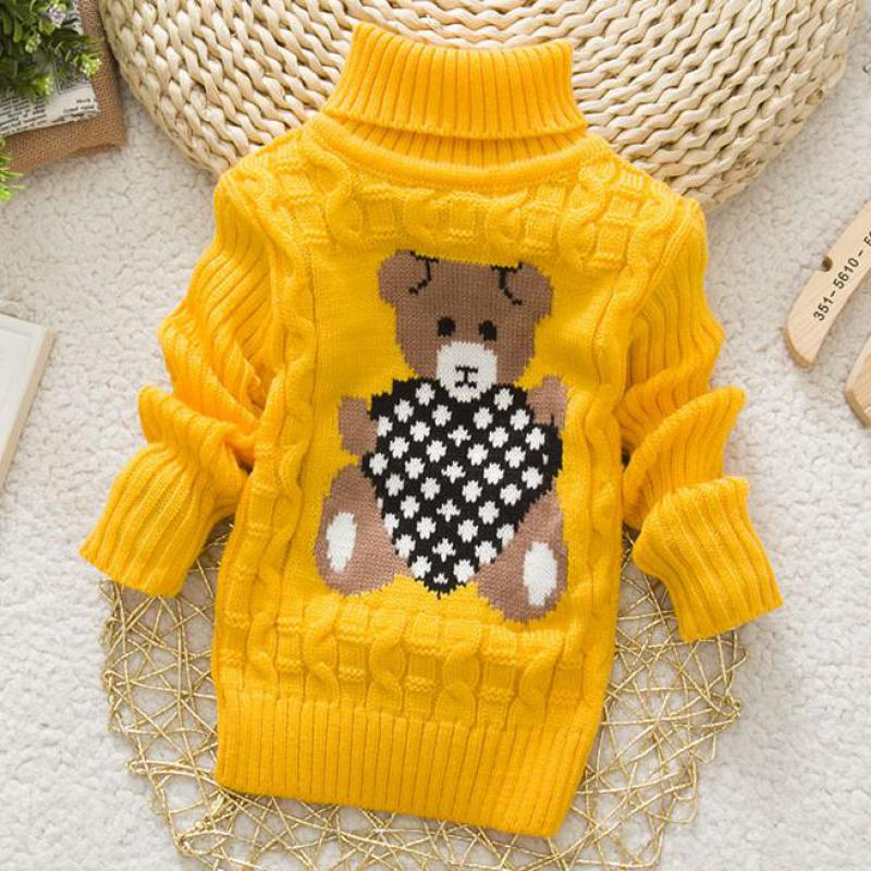 2016 new arrival baby girls and boys clothing sweater spring/autumn baby Turtleneck sweaters newborn Cartoon clothes 25