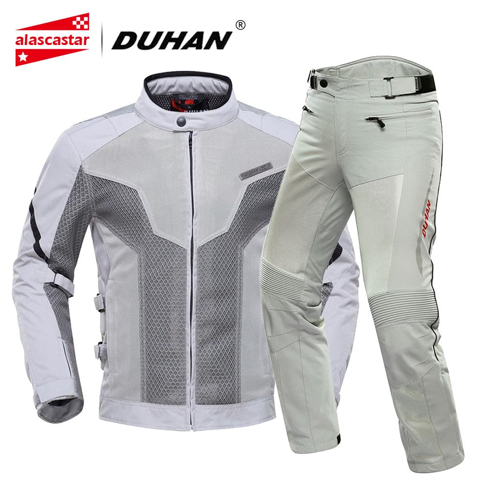 DUHAN Moto veste hommes été Chaqueta Moto veste vêtements d'équitation respirant maille tissu Touring course veste Moto