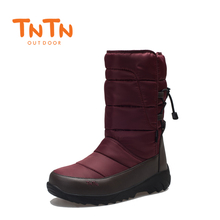 TNTN 2018 Mens Outdoor Snow Boots Winter Fleece Waterproof Cotton Men and Women Hiking Warm For