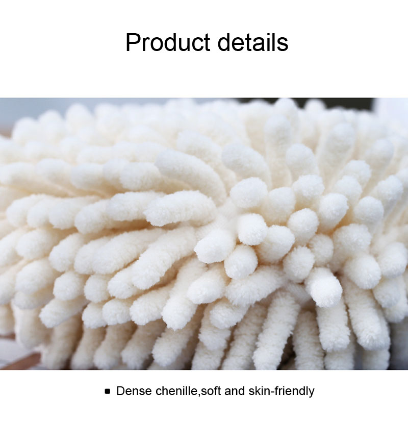 Chenille Hand Dry Towels Kitchen Bathroom Strong Water Absorption Quick Dry Towel Hanging Thick Lovely Hands Dry Ball (11)